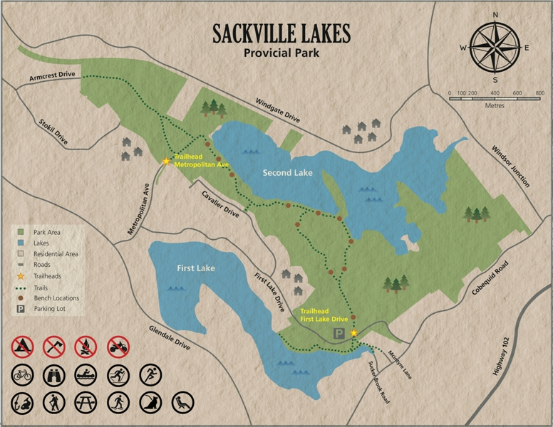 Sackville Lakes Colour Map 2